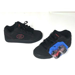 Heelys Youth Size 5 Straight Up Black Red Sneakers